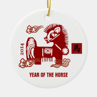 馬のギフトのオーナメントの中国のな年 セラミックオーナメント