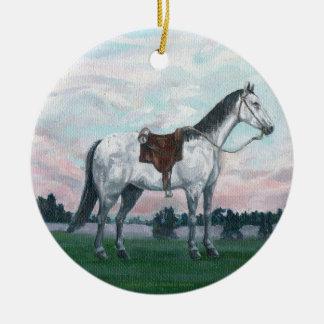 馬のクリスマスのオーナメント セラミックオーナメント
