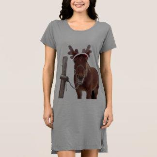馬のシカ-クリスマスの馬-おもしろいな馬 ドレス