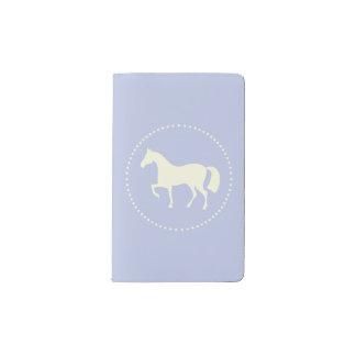 馬のシルエットのポケットmoleskineのノート(青い) ポケットMoleskineノートブック