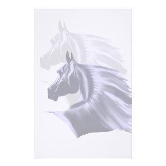 馬のシルエットの文房具 便箋