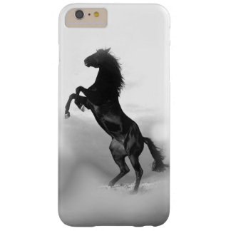 馬のシルエットを育てる白黒 BARELY THERE iPhone 6 PLUS ケース