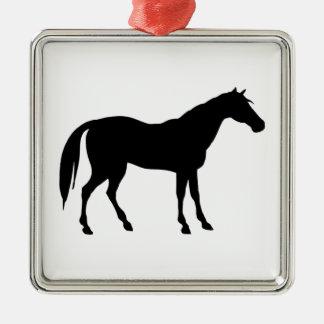 馬のシルエット メタルオーナメント