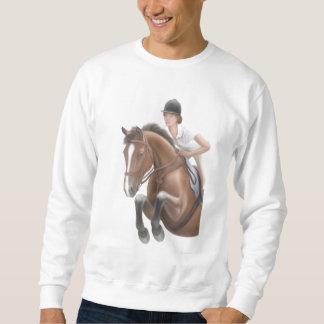 馬のジャンパーのスエットシャツ スウェットシャツ