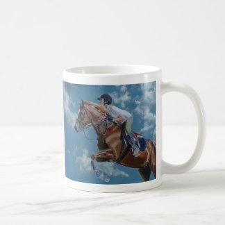馬のジャンパーの青空 コーヒーマグカップ