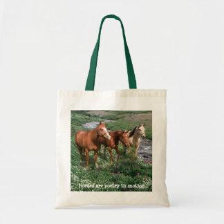 馬のトリオのトートバック トートバッグ