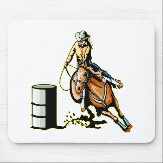 馬のバレルの競争 マウスパッド