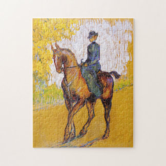 馬のパズルのツールーズLautrecの女性 ジグソーパズル