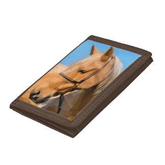 馬のブラウンの財布