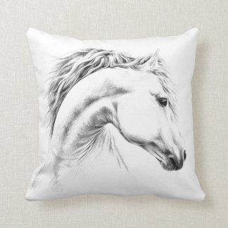 馬のポートレートの鉛筆のスケッチの装飾用クッション クッション