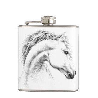 馬のポートレートの鉛筆の芸術のフラスコ フラスク