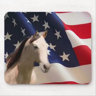 馬のマウスパッドの米国旗 マウスパッド