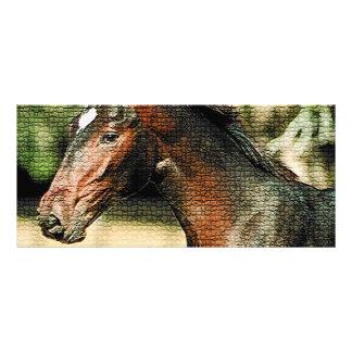 馬のモザイク・タイルの棚カード ラックカード