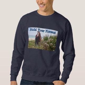 馬のユニセックスなスエットシャツのビーチ スウェットシャツ