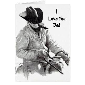馬のライダー、ILove YouDad カード