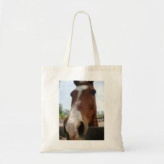 馬の上で閉めて下さい トートバッグ