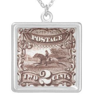 馬の切手のネックレス シルバープレートネックレス