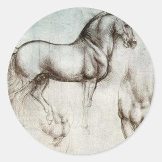 馬の勉強-レオナルド・ダ・ヴィンチ ラウンドシール