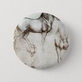馬の勉強-レオナルド・ダ・ヴィンチ 缶バッジ