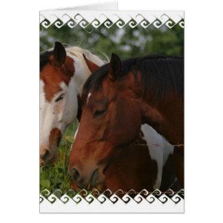 馬の友人の挨拶状 カード