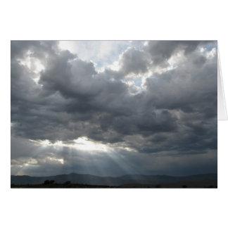 馬の国上の嵐の壊れ目-西部の悔やみや弔慰 カード