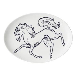 馬の大皿 磁器大皿