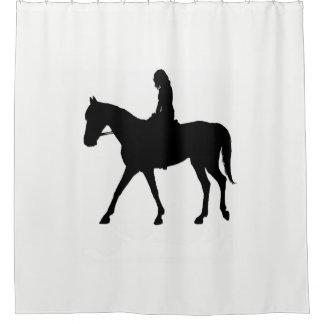 馬の女の子 シャワーカーテン