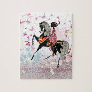 馬の女の子 ジグソーパズル