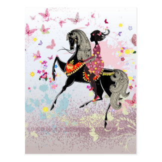 馬の女の子 ポストカード