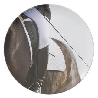 馬の女性の馬場馬術のライダーの詳細 プレート