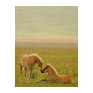 馬の子馬 ウッドウォールアート