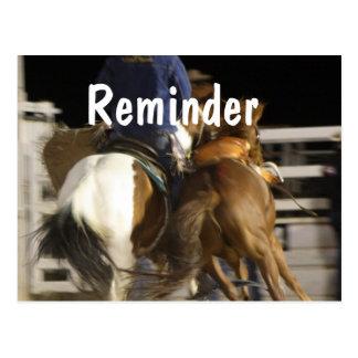 馬の専門のアポイントメントのメモカード ポストカード