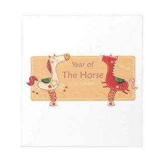 馬の年 ノートパッド