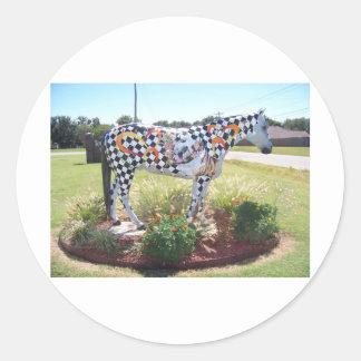 馬の彫像 ラウンドシール