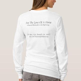 馬の愛のために、署名するGracieの木炭 Tシャツ