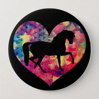 馬の愛 10.2CM 丸型バッジ