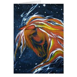 馬の星の星座の挨拶状 カード