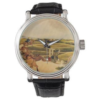 馬の武士の乗馬 腕時計