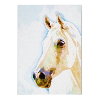 馬の水彩画のポートレート5x7のプリント 12.7 x 17.8 インビテーションカード