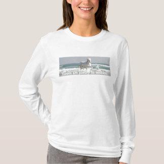 馬の海の美しいの女性ワイシャツ Tシャツ