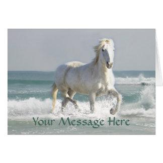 馬の海の美しいの挨拶状 カード