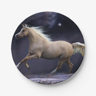 馬の疾走すること ペーパープレート