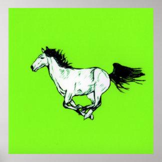 馬の疾走すること ポスター