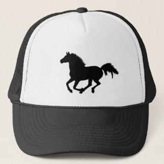 馬の疾走するシルエットの帽子、ギフトのアイディア キャップ