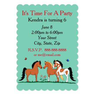 馬の相棒のカスタマイズ可能なパーティの招待状 カード