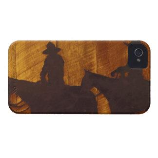 馬の米国、モンタナの大きい石の川のカウボーイ iPhone 4 ケース