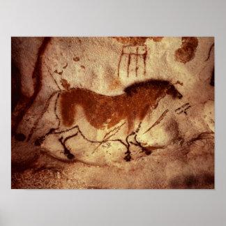 馬の絵画、c.17000を紀元前に揺すって下さい ポスター