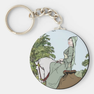 馬の緑の女性 キーホルダー