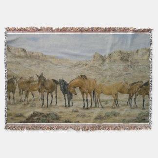 馬の群れのブランケット スローブランケット