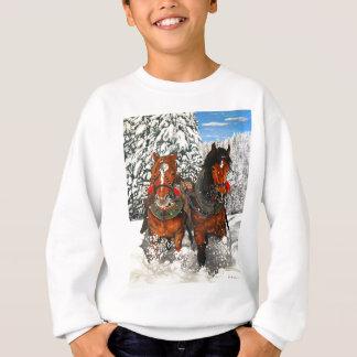 馬の耕すこと スウェットシャツ